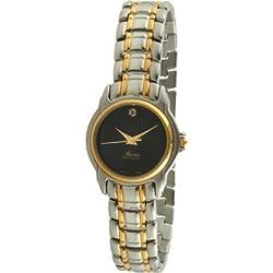 Swiss Edition se3810-l Damen Bicolor schwarz Zifferblatt Kleid Armbanduhr