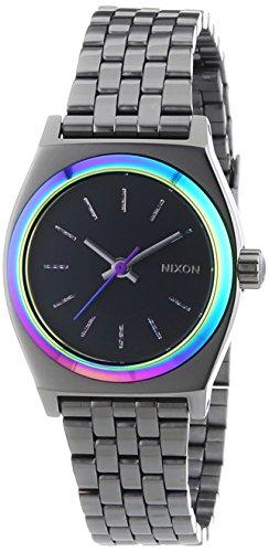 nixon-small-time-teller-gunmetal-multi-womens-quartz-watch-stainless-steel-strap-grey