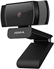 PAPALOOK HD 1080P Webcam AF925 with Auto Focus, Fold-and-Go Design, 360-Degree Swivel, Noise Reduction Microph