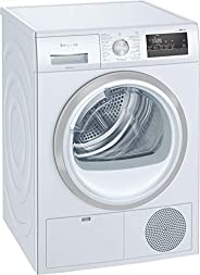 Siemens condenser tumble dryer 8 kg, White, WT43N200GC, Sensor-controlled autoDry technology prevents laundry