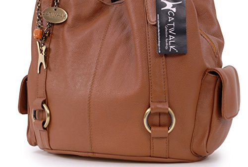 Borsa a spalla grande in pelle di Catwalk Collection
