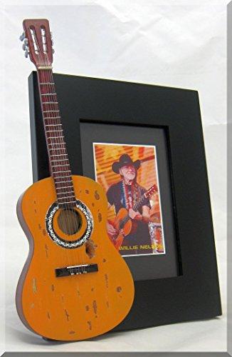 Willie Nelson Miniatur Gitarre Foto Rahmen