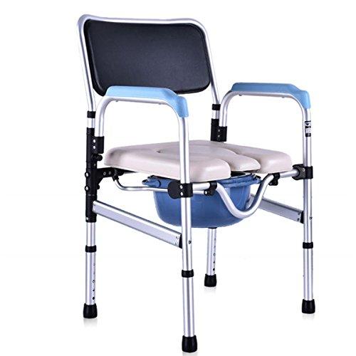 SHKD Silla plegable Anciano Sentado en la silla Persona discapacitada WC Asiento de inodoro Mujer embarazada Moving Toilet Silla de baño Moving Toilet Silla de ducha , B
