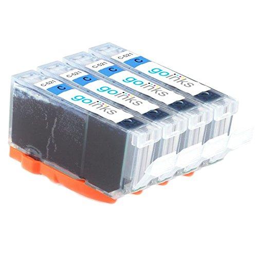 GB Inks c-521C 4Stück kompatible Druckerpatronen für Drucker multi-pack cyan (Gb Multi Pack)