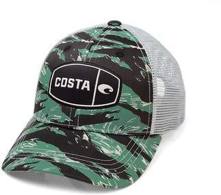 Costa Del Mar Tiger Camo Trucker Hat, Herren, grün, Einheitsgröße