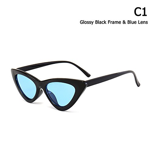 Aprigy Mode Vintage klassische Frauen-Katzenauge-Art-Sonnenbrille Farbton Ozean Objektiv Brand Design Sun Glasses