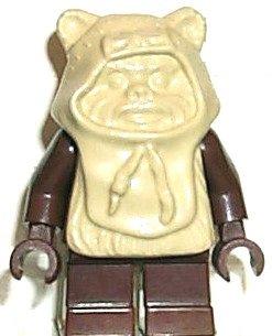 LEGO 7139 Star Wars - Minifigur Ewok Paploo - beiger Kopf (Lego Ewok Minifiguren)