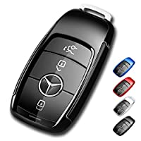Mercedes Benz Key Fob Cover,Soft TPU Premium and Fashion Appearance Key Case Cover for Mercedes Benz E Class, 2018 up S Class, 2017 2018 W213 Keyless Smart Key Black US-4-benz4