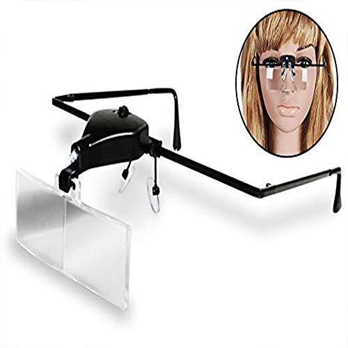 Lupenbrille W/LED Light/Lightweight Frame und verstellbare Ohr- und Nasenteile Wimpernverlängerung Lesen Schmuckherstellung Kosmetikerin Advanced Brillen und medizinisch, 3 Linsen