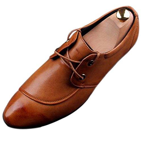 Mode Hommes En Cuir Elegant Pu Nouveau Design Haut De Gamme Chaussures Respirant Nouvelle Robe Jaune