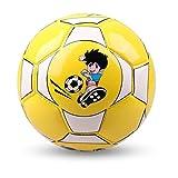 VIGE Offizielle Größe 2 Standard PU-Leder-Fußball-Training Fußball Indoor Outdoor Mit Free Net Nadel für Kinder Students - Gelb