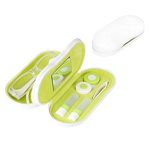 Kontaktlinsenbehälter Spiegel (Balvi-TwinWeißesEtuifürBrillenundKontaktlinsenmitSpiegel.EnthältKontaktlinsenbehälter,zweiAufbewahrungsbehälterundeinePinzette.)