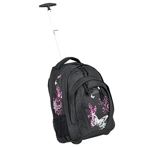 Mochila con Bestway mochila escolar para niñas/niños trolley Varios diseños por ejemplo Flower Butterfly Dragon–33litros Selección de Colores negro Papillon Schwarz Pink
