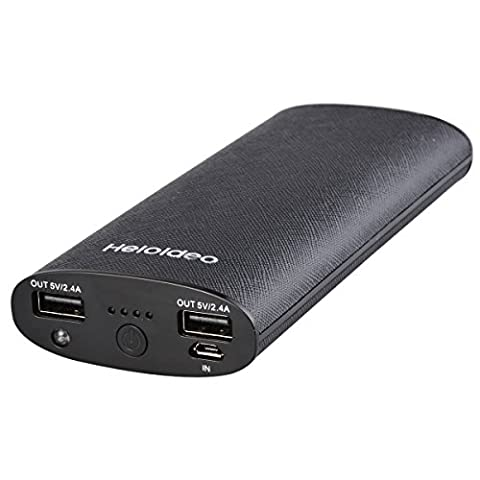 Heloideo Dual-Port Chargeur Portable 11000 mAh Batterie externe Power Bank pour iPhone, iPad, Samsung Galaxy, Smart Phones et