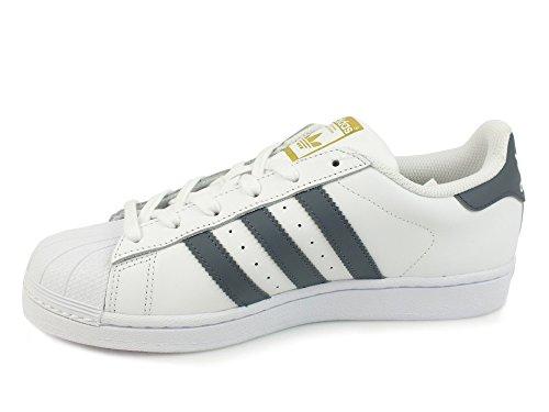 adidas Herren Superstar Sneakers weiß / grau