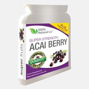 Acai Berry Capsules 100% Natural Co Super Strength from 100% Natural Co
