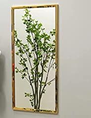 مرآة حائط مستطيلة بإطار استانلس ستيل ذهبي مقاس 60 * 120 سم