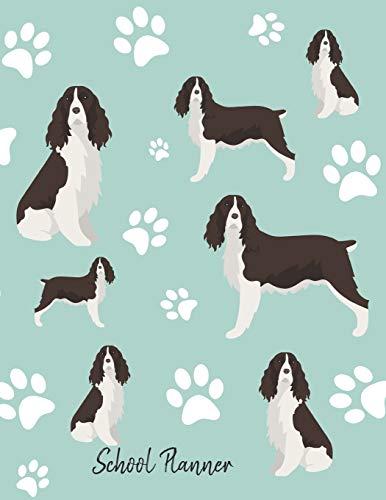 School Planner: School Planner 2019-2020 Springer Spaniel Dog -