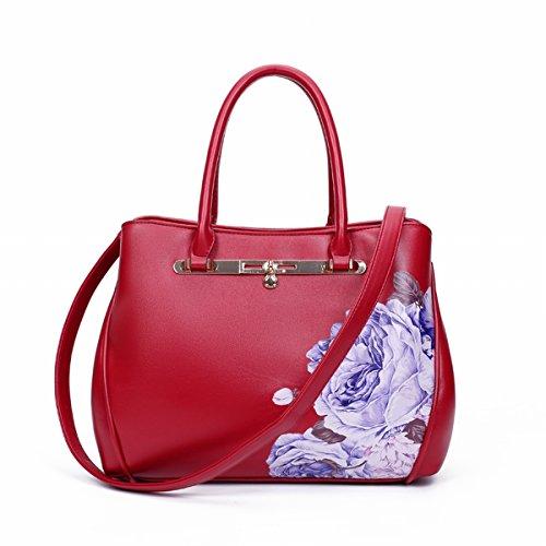 damen-tasche herbst-komplex nationalen uniform messenger messenger handtasche Schläge Rote Pfingstrose
