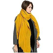 Femme Couleur Unie Doux Extra Grand Sensation De Cachemire Écharpe Etole  Châles Wrap ... 01114b33f60