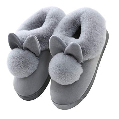 Cosanter Style De Lapin Automne Et Hiver Accueil Chaleur Chaussures en Coton À Semelles Épaisses