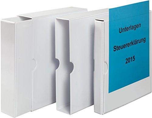 Präsentations-Schuber inklusive passendem Ringbuch aus PVC, 1 Stück, verschiedene Rückenbreiten der Ringbücher
