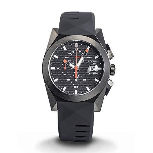 Men's Chronograph Stealth Steel and Titanium PVD Black Locman
