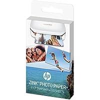 HP Sprocket ZINK - Papel fotográfico adhesivo (20 hojas, 5 x 7,6 cm/2 x 3 pulgadas, acabado satinado)