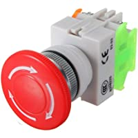 600V 10A Aus Schalter Notausschalter Emergency Stop Switch Pushbutton