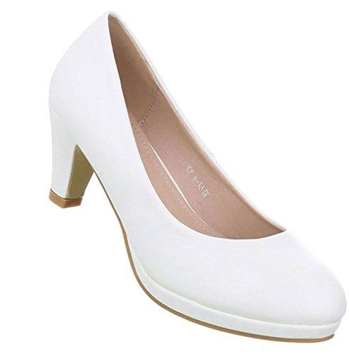Damen Schuhe Pumps Klassische Weiß 38