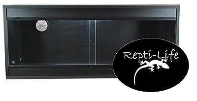 Repti-Life 36x15x15 Inch Vivarium Flatpacked In Black, 3ft Viv by Repti-Life