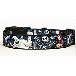 Pesadilla Antes De Navidad The Nightmare Before Christmas Jack B Collar Perro Hecho A Mano Talla M HandMade Dog Collar