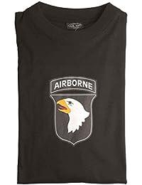 T-Shirt m.Druck '101St Ab' schwarz