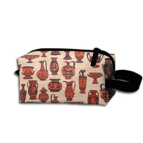 p Pouch Greek Vases Cosmetic Pouch Pencil Case Accessory Toiletry Bag Storage Bag ()