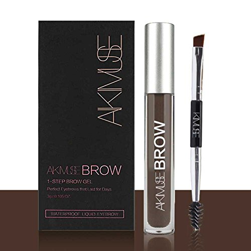 ROMANTIC BEAR Wasserfest Augenbrauen Farben Gel Mit Pinsel Set,Anti-discoloration Eyebrow Gel,BLACKBROWN -