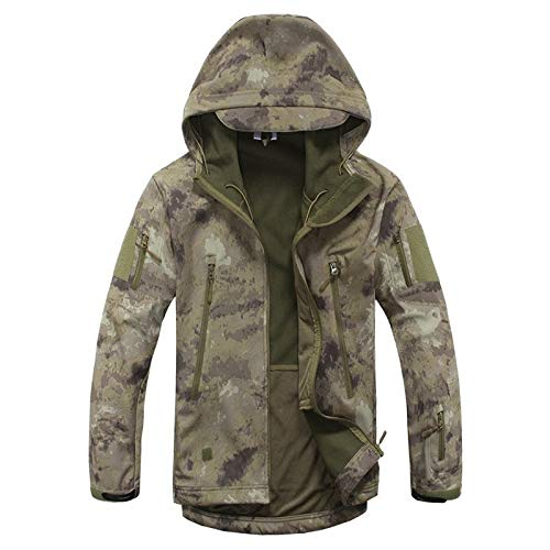 Tarnung Shjzom wasserdichte Army Tactical Jacket Men Camouflage Militärjacke Softshell Windbreaker Hooded Coat Hunt Kleidung Khaki Camo XS -