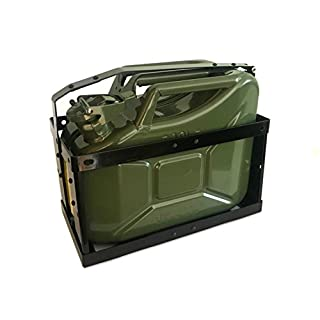 10 Litre Green Jerry Can & Holder for Fuel Petrol Diesel etc - Compact Design