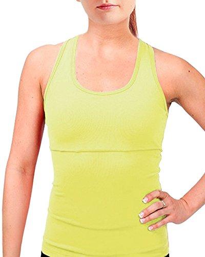 Femme Top De sport - Fitness Running Yoga DébarDeur Jaune