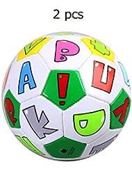e41d9a937af48 Wanlianer-Balls Mini Ballon De Football Officiel Taille 2 Balles Douces De  Football Jouets pour Enfants en Bas Âge Filles Garçons Sport en Plein Air  Âge 1-4 ...