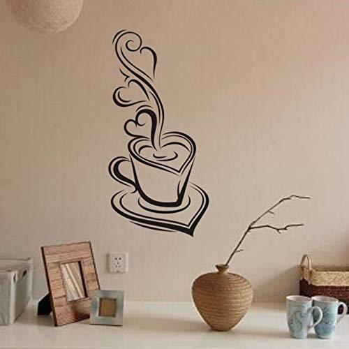Mode Einfachheit Kaffee Abnehmbare Aufkleber Kunstwand Home Room Decor Wandaufkleber Home Küche Restaurant Wandaufkleber