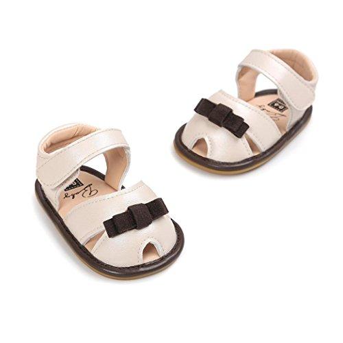 Ouneed® Bebe Fille Ete Cuir Premier Pas Doux Sole Sandale Kaki