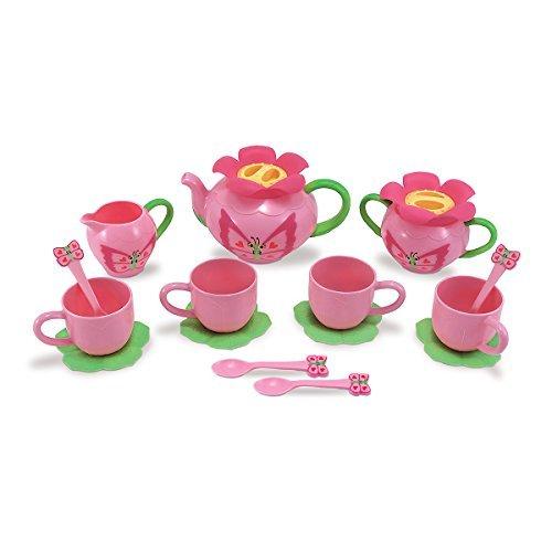 Bella 15 Piece Butterfly Tea Set, Kids Play Kitchen