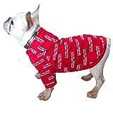 YiiJee Weich und Bequem Drucken Haustier Hoodie Beiläufig Mode Welpen Stretch Sweatshirt Kleidung (Rot, S)
