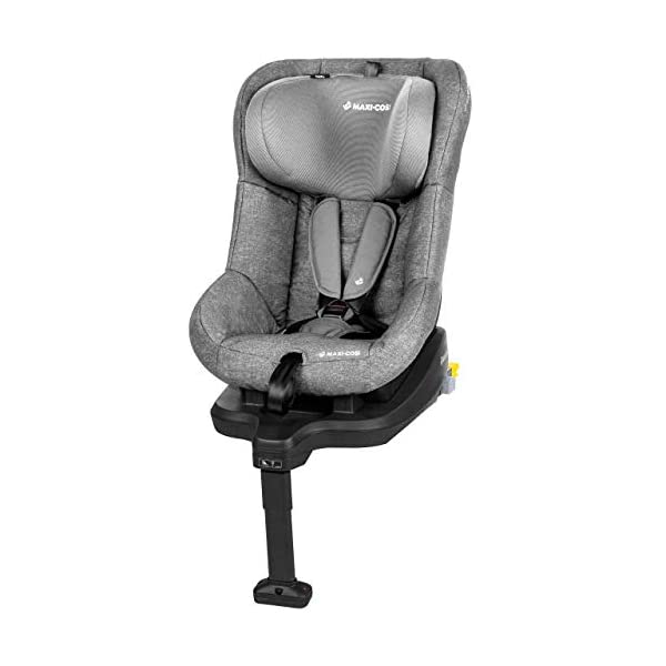 Maxi-Cosi TobiFix Toddler Car Seat Group 1, Forward-Facing ISOFIX Car Seat, 9 Months-4 Years, 9-18 kg, Nomad Grey Maxi-Cosi Install using is fix connection point with support leg Simultaneous harness & headrest adjustment can be operated with one-hand 3 position recline 1