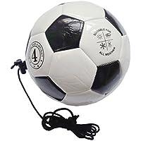 RUNACC Entraînement Ballon de Football Pratique Football Football Portable Pratique Ballons de Football avec Cordon de Contrôle Réglable, Parfait pour les Adolescents de Football, Taille 4