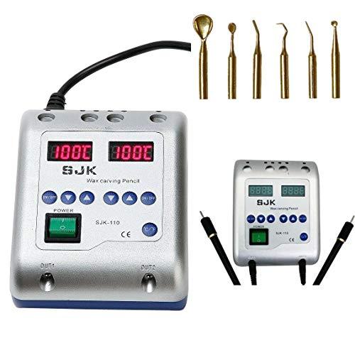 RANZIX Digital Elektrisch Waxer Maschine Wachs Gerät Tranchiermesser Wachsmesser + 6 Wax Tips Dental Lab -