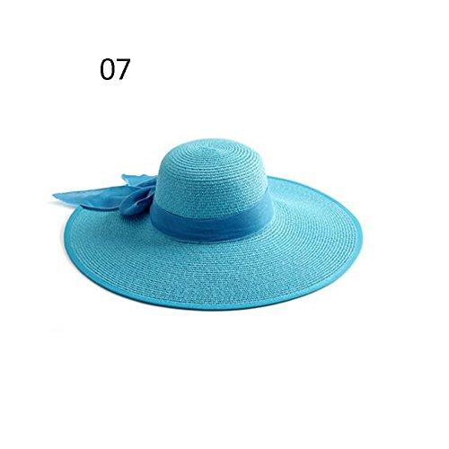 qz Chapeau de Soleil Chapeau de plage pliable Chapeau de plage pliable Chapeau plissé ( Couleur : #01 ) #07