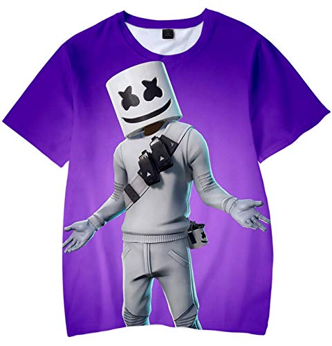 Camiseta para Niños 3D Impresión Gráfica Marshmello DJ Cool Hip Hop