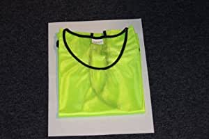 chasuble jaune junior, 100 % polyester
