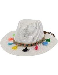 Sombreros Sombrero De Sol Sombrero Ancho De Sombrero Playa Dobladillo De De Acogedor Verano Gorra Elegante con Borlas De Colores Gorras De Mujer
